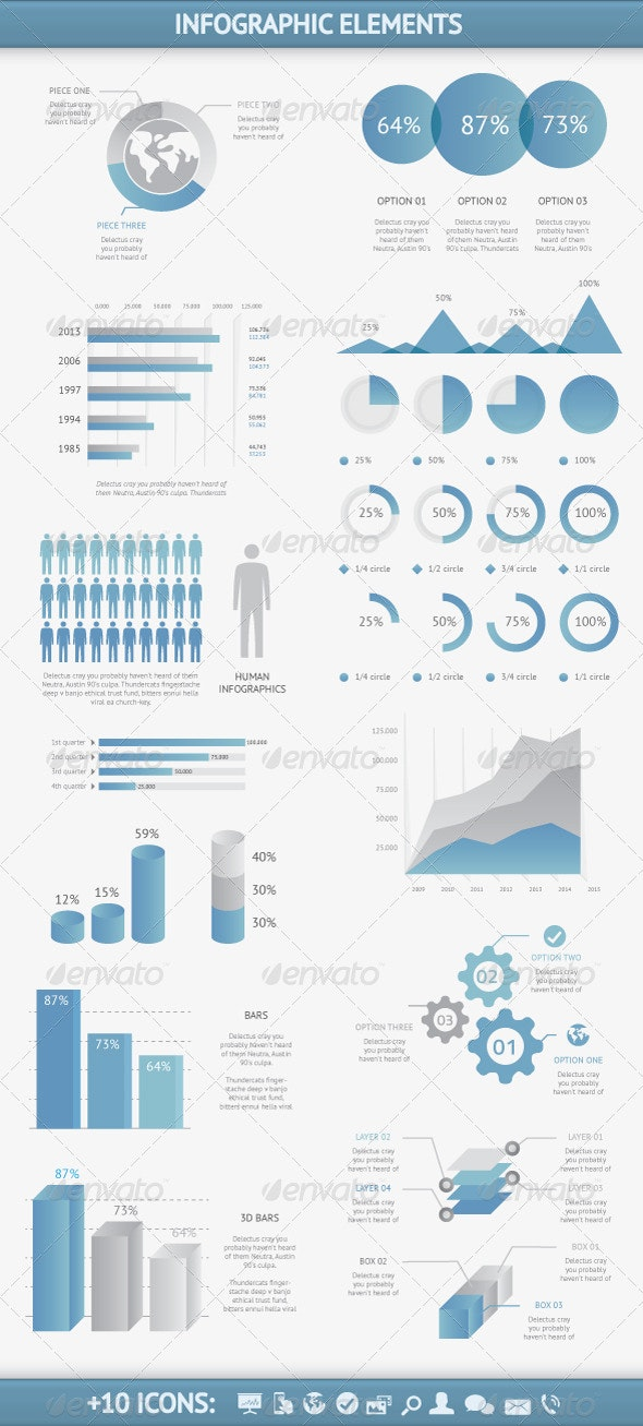 Infographic Elements Vector Set - Infographics