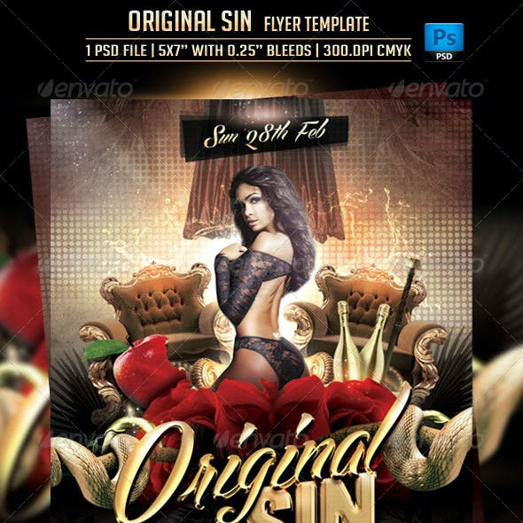 Original Sin Flyer Template
