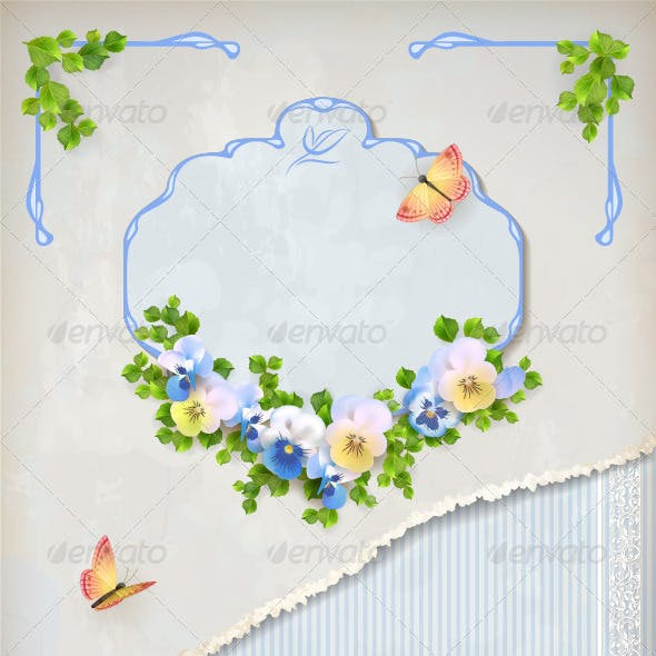 Romantic Flower Vintage Background