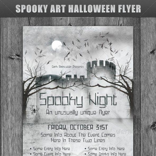 Spooky Art Halloween Flyer