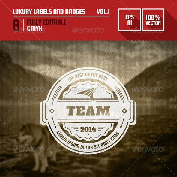 Luxury Labels and Badges Vol.1