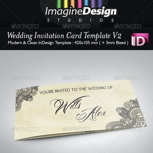 Wedding Invitation Card V2