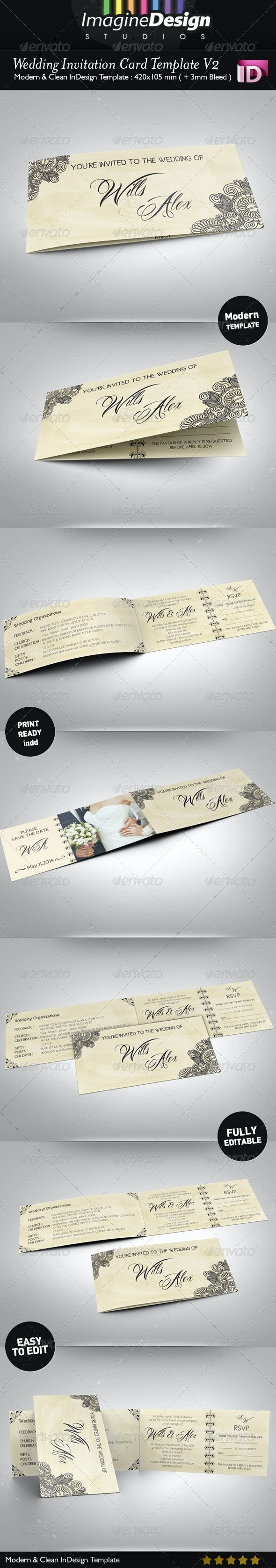 Wedding Invitation Card V2 - Weddings Cards & Invites