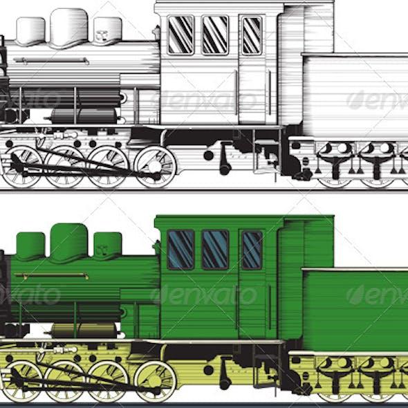 An old locomotive