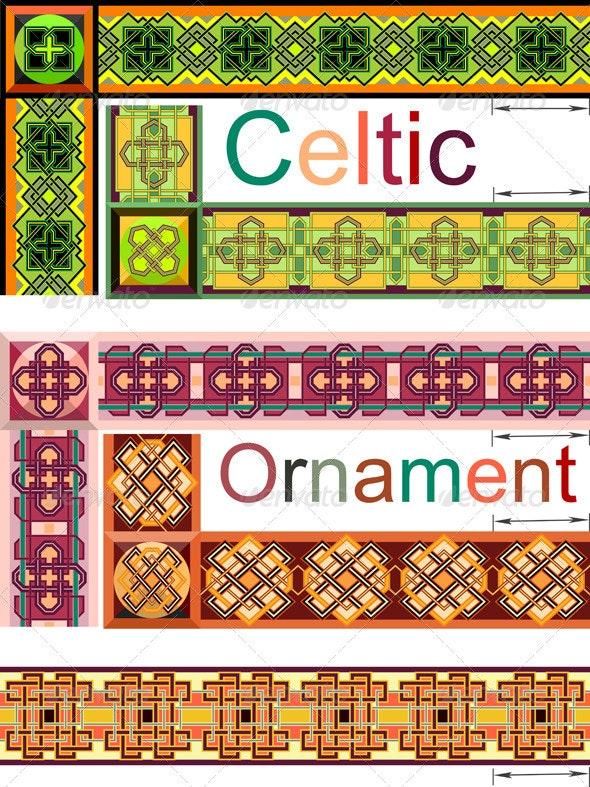 Celtic style - Borders Decorative
