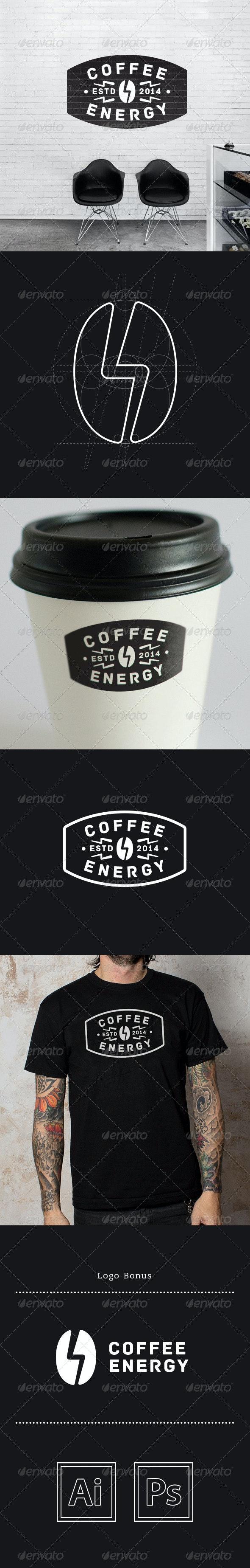 Coffee Energy Logo - Food Logo Templates