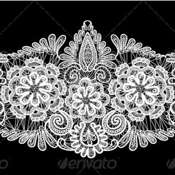 Floral Lace Ornament