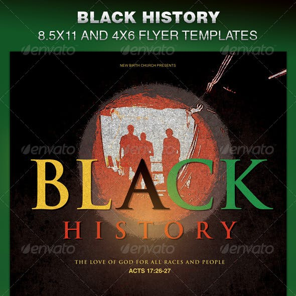 Black History Church Flyer Template