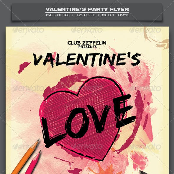 Valentine's Day Party - Event Flyer Template 9