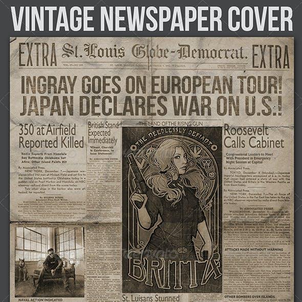 Vintage Newspaper Cover