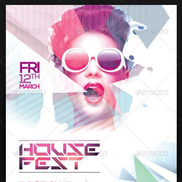 House Fest Flyer Template PSD