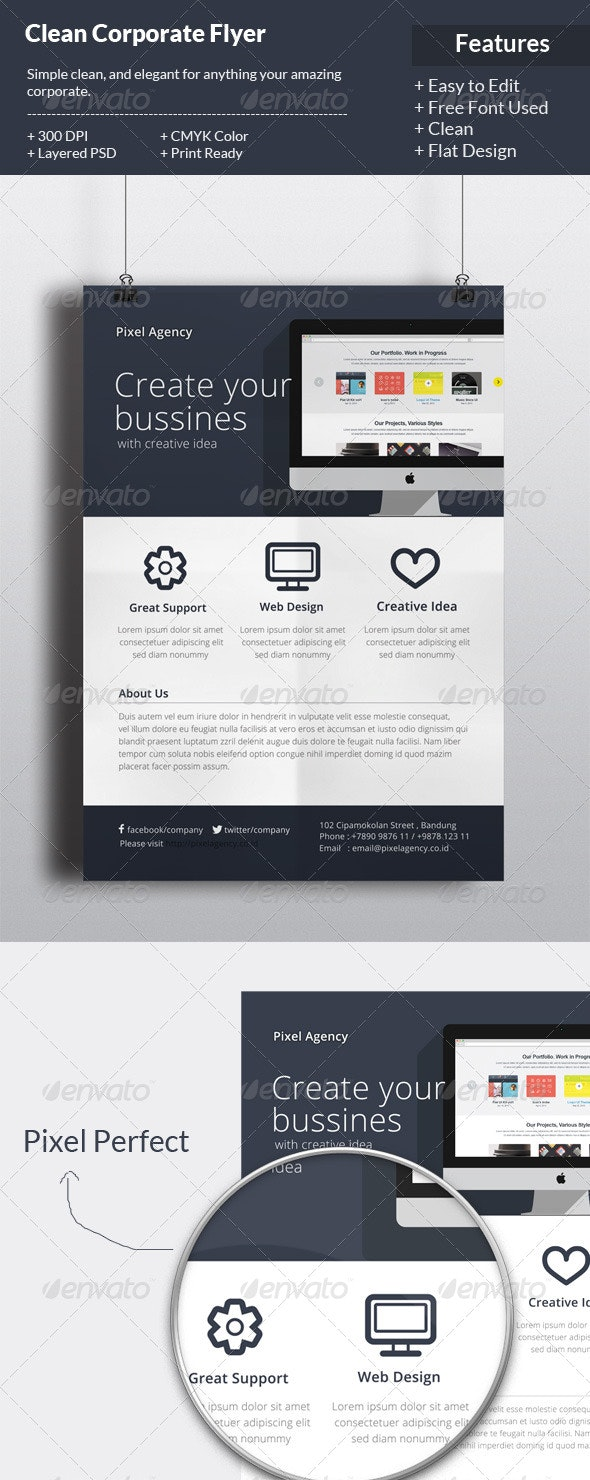 Flat Corporate Flyer Template - Corporate Flyers