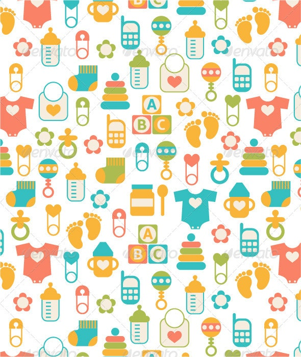 Seamless Baby Pattern - Patterns Decorative