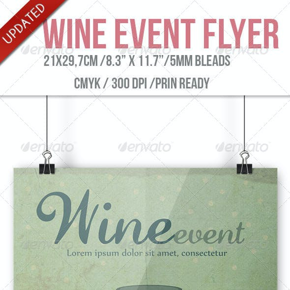 Wine Event Flyer