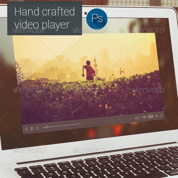 Flat Style Video Player