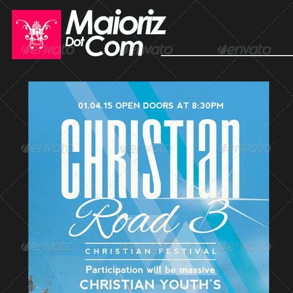 Christian Road 3 Flyer Church