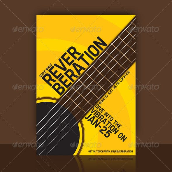 Guitar Flyer Design - Reverberation