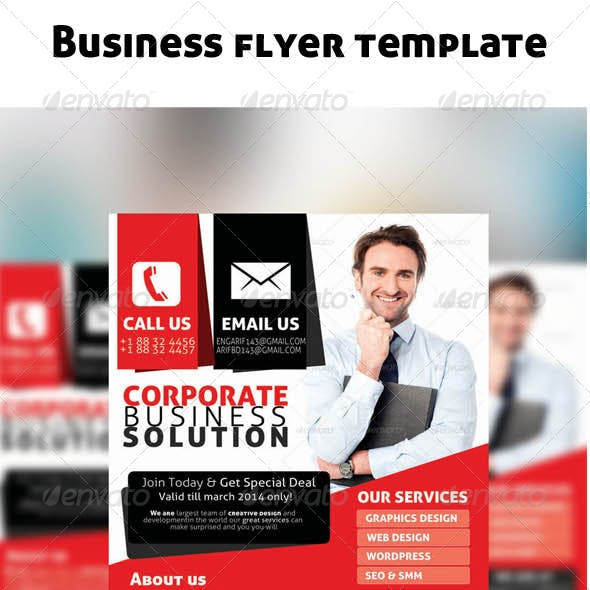 Corporate business Flyer (Red & Black)
