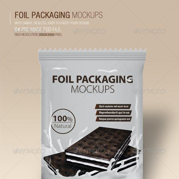 Foil Packaging Mockups Vol.2