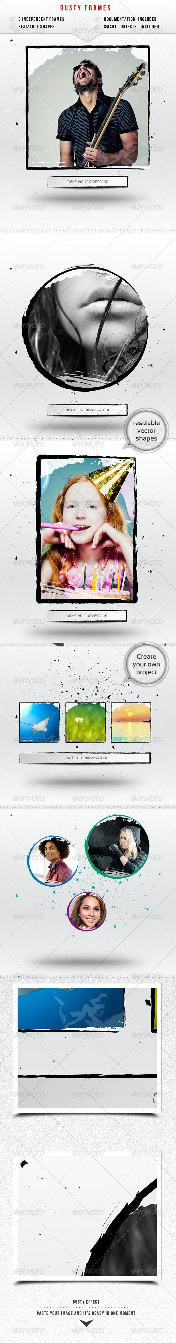 Dusty Image Frames - Artistic Photo Templates