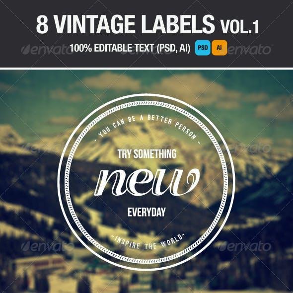 Vintage Labels and Badges Vol.1