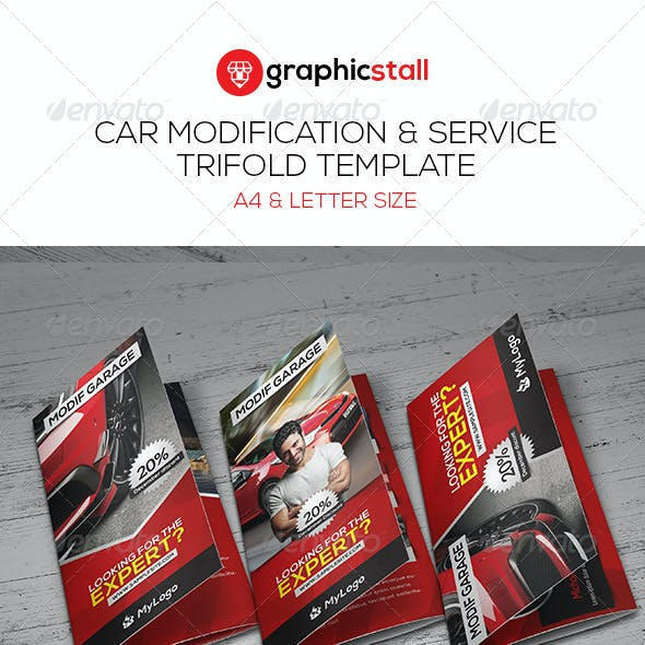 Car Modification & Service Trifold
