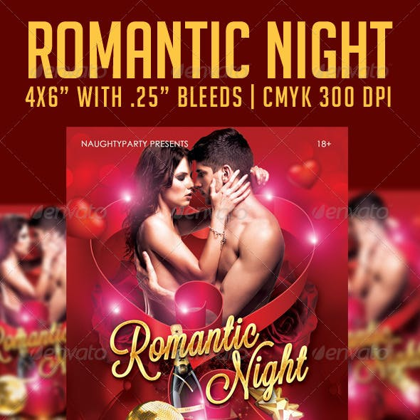 Romantic Night Flyer Template