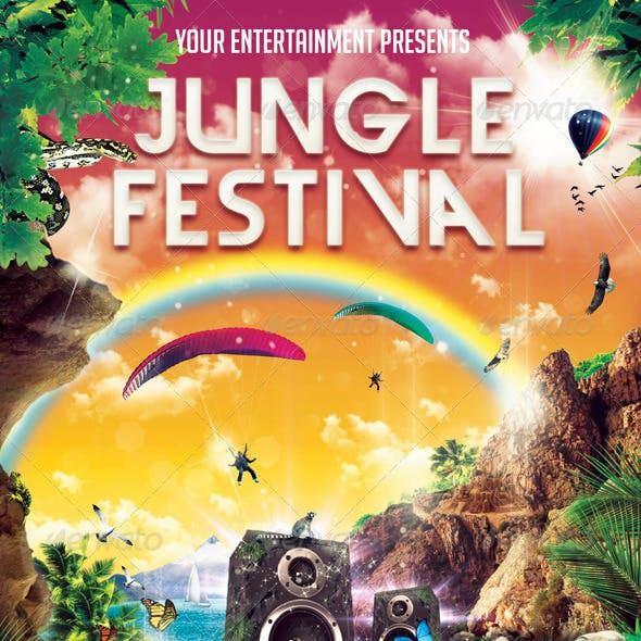 Jungle Festival Flyer