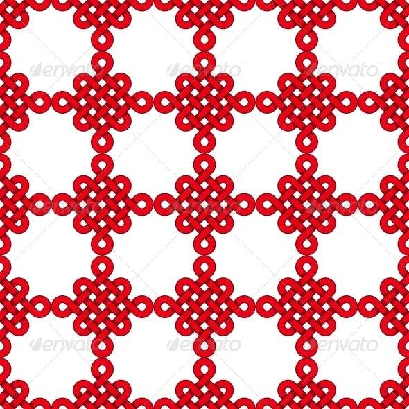 Chinese Knot Seamless Pattern