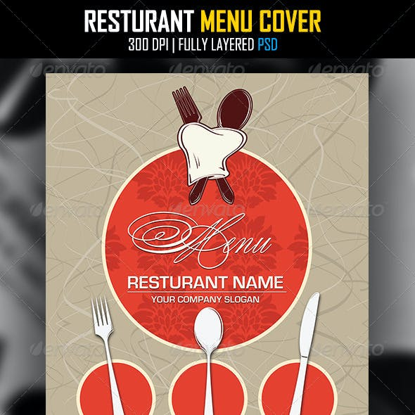 Resturant Menu Cover