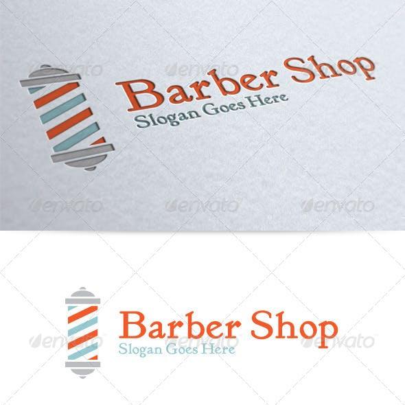Old Fashioned Barber Shop Logo