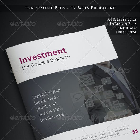 Investment Plan - 16 Pages Business Brochure