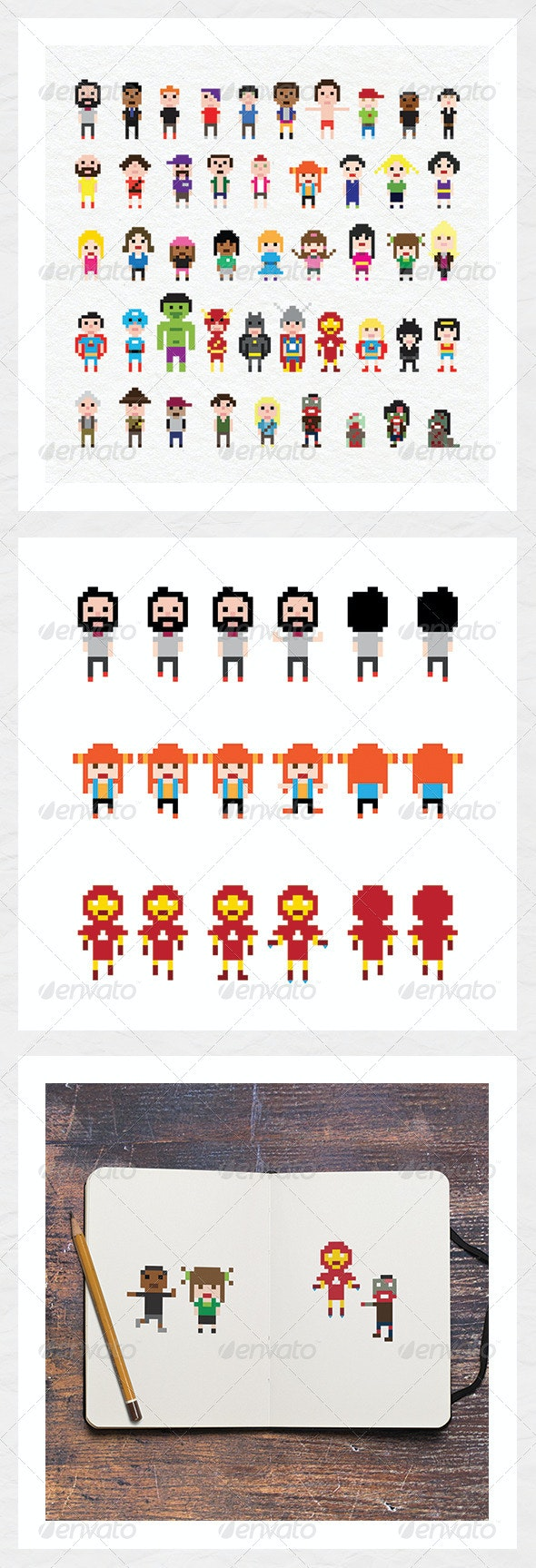 Pixel Characters - Sprites Game Assets