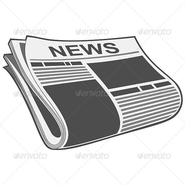Folded Newspaper Illustration