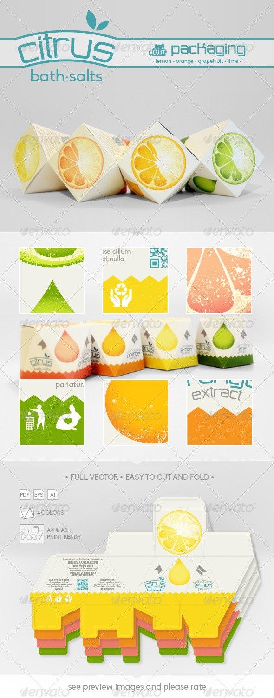 Citrus Bath Salts Packaging