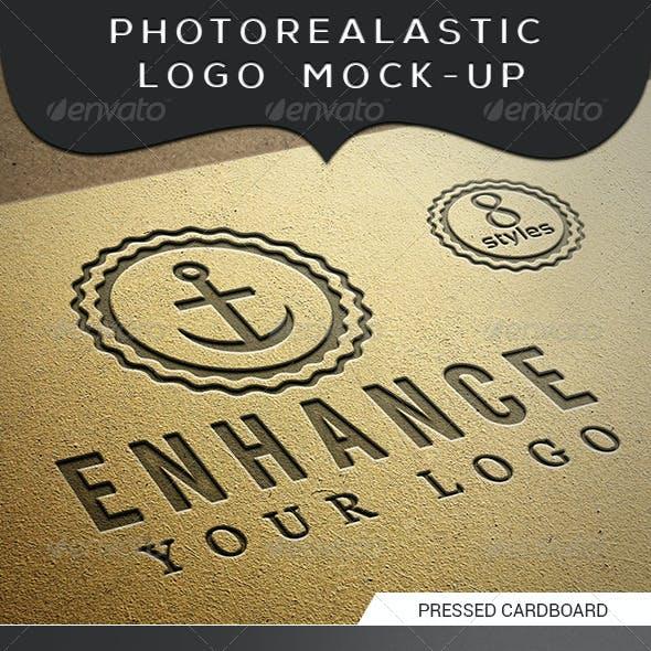 Photorealastic Logo, Text, Badges Mock-Up V-1