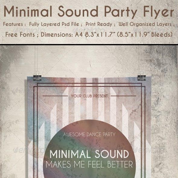 Minimal Sound Party Flyer