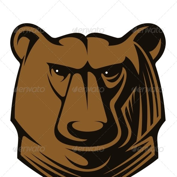 Big Brown Bear Head