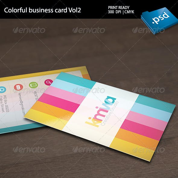 Colorful Business Card Vol2