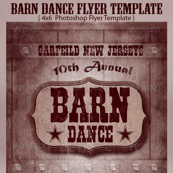 Barn Dance Flyer Template