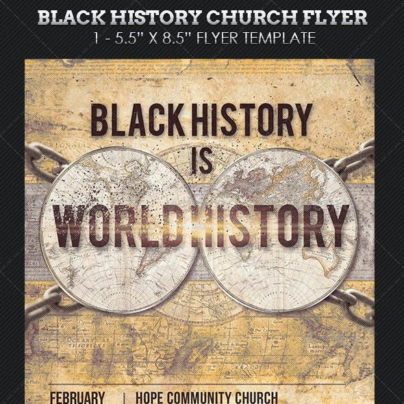 Black History Church Flyer Template