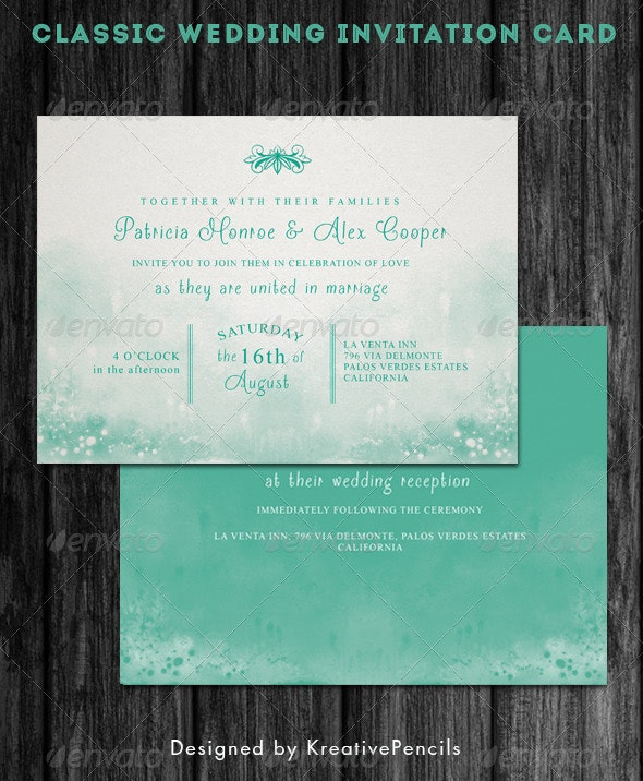 Classic Wedding Invitation - Weddings Cards & Invites