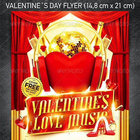 Valentine`s Love Music Flyer vol.3