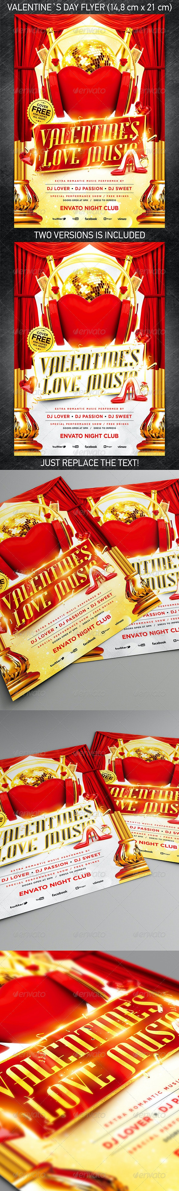 Valentine`s Love Music Flyer vol.3 - Holidays Events