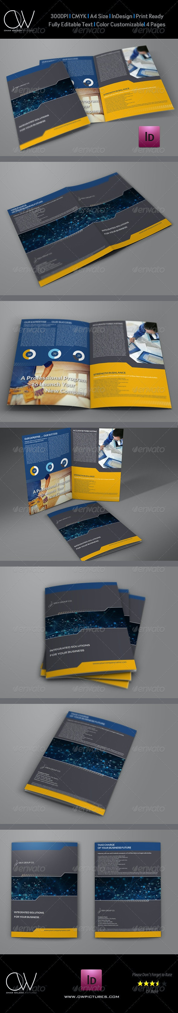 Company Brochure Bi-Fold Template Vol.17 - Corporate Brochures