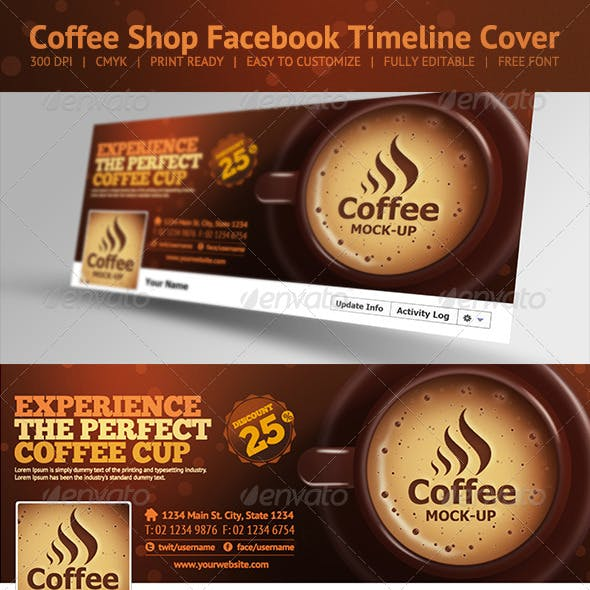 Coffee Shop Facebook Timeline Cover