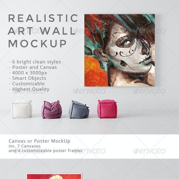Realistic Art Wall Mock-Up
