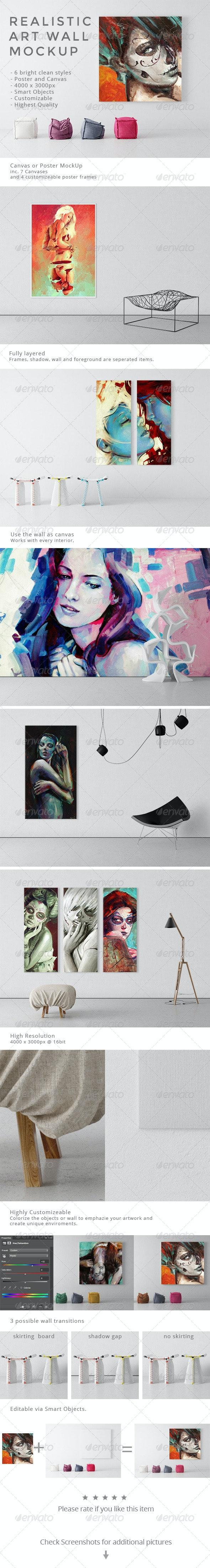 Realistic Art Wall Mock-Up - Miscellaneous Print