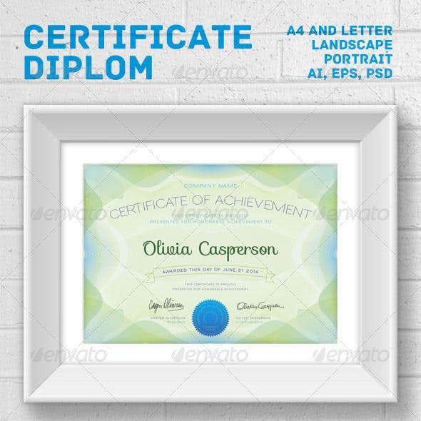 Modern Certificate / Diploma