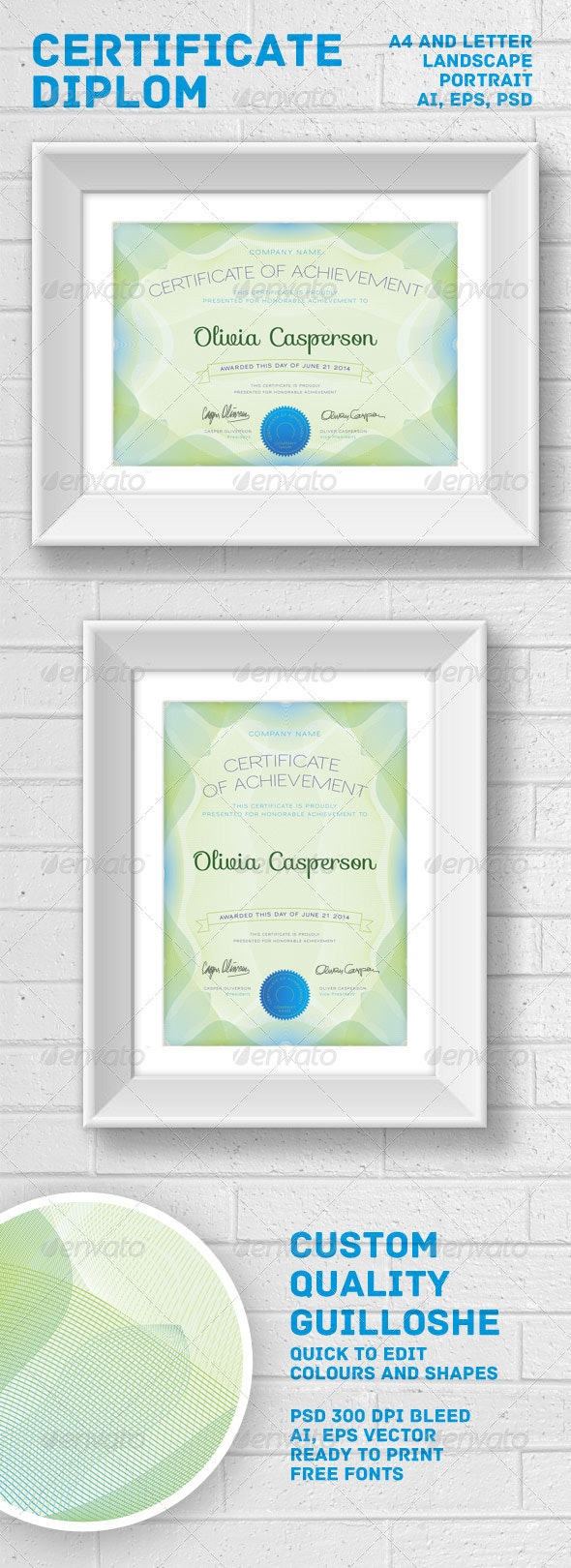 Modern Certificate / Diploma - Certificates Stationery